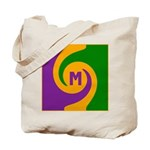 Mardi Gras Swirls Monogram Tote Bag