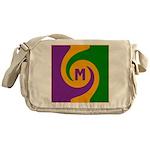 Mardi Gras Swirls Monogram Messenger Bag