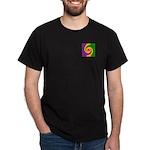Mardi Gras Swirls Monogram Dark T-Shirt