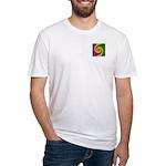 Mardi Gras Swirls Monogram Fitted T-Shirt