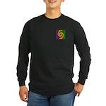 Mardi Gras Swirls Monogra Long Sleeve Dark T-Shirt