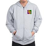 Mardi Gras Swirls Monogram Zip Hoodie