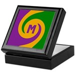 Mardi Gras Swirls Monogram Keepsake Box