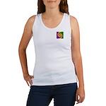 Mardi Gras Swirls Monogram Women's Tank Top