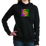 Mardi Gras Swirls Monogr Women's Hooded Sweatshirt