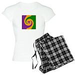 Mardi Gras Swirls Monogram Women's Light Pajamas