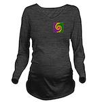Mardi Gras Swirls Mo Long Sleeve Maternity T-Shirt