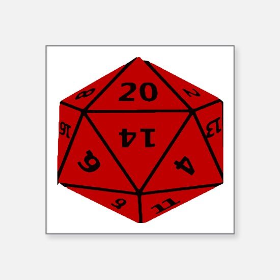 Geeky Dice Sticker