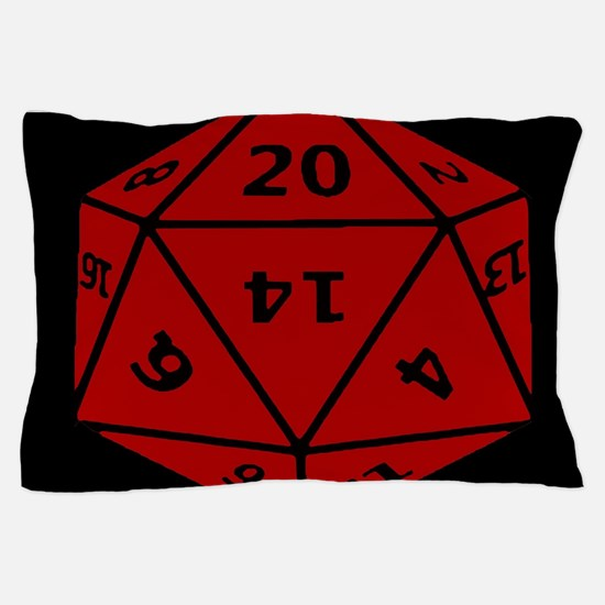 Cute D20 dice Pillow Case