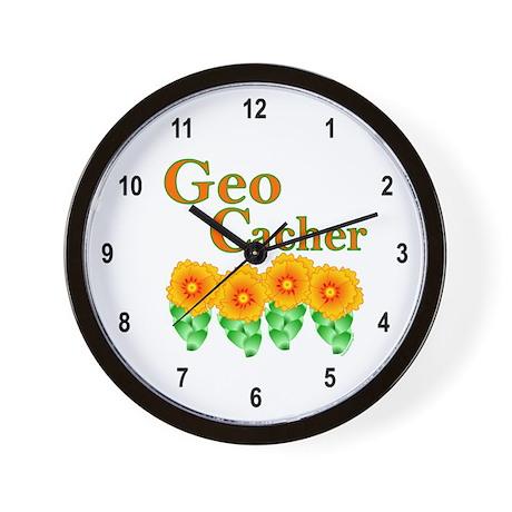 Orange Geocacher Wall Clock