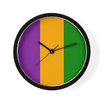 Mardi Gras Stripes Wall Clock
