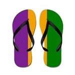 Mardi Gras Stripes Flip Flops
