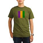 Mardi Gras Stripes Organic Men's T-Shirt (dark)