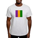 Mardi Gras Stripes Light T-Shirt
