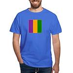 Mardi Gras Stripes Dark T-Shirt