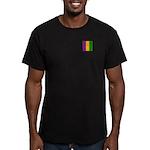 Mardi Gras Stripes Men's Fitted T-Shirt (dark)