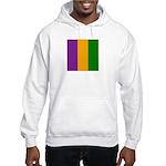 Mardi Gras Stripes Hooded Sweatshirt