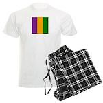 Mardi Gras Stripes Men's Light Pajamas