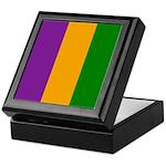 Mardi Gras Stripes Keepsake Box