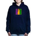 Mardi Gras Stripes Women's Hooded Sweatshirt