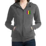 Mardi Gras Stripes Women's Zip Hoodie