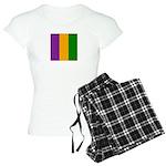 Mardi Gras Stripes Women's Light Pajamas
