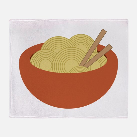 Bowl Of Noodles Throw Blanket