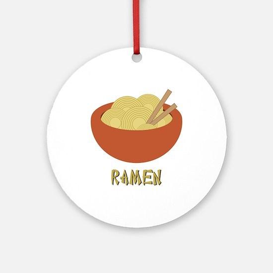 Ramen Ornament (Round)