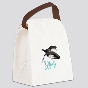 HUMPBACK WHALES Canvas Lunch Bag