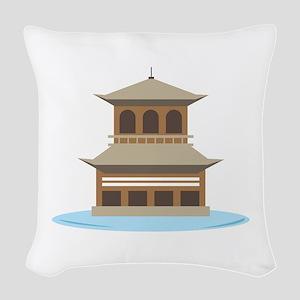 Asian Temple Woven Throw Pillow