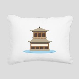 Asian Temple Rectangular Canvas Pillow