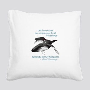 ALL LIVING CREATURES Square Canvas Pillow