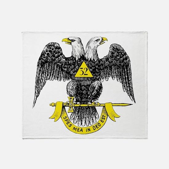 Freemasonry Scottish Rite Throw Blanket