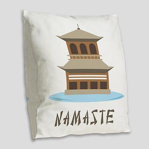 Namaste Burlap Throw Pillow