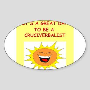 CROSSWORDS Sticker (Oval)