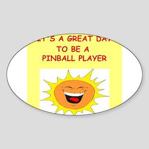 PINBALL.png Sticker (Oval)