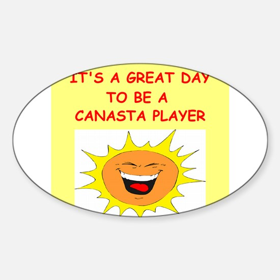 CANASTA.png Sticker (Oval)