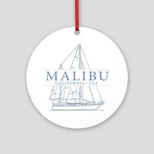 Malibu CA - Ornament (Round)