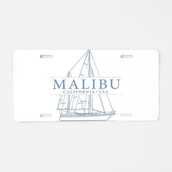Malibu CA - Aluminum License Plate