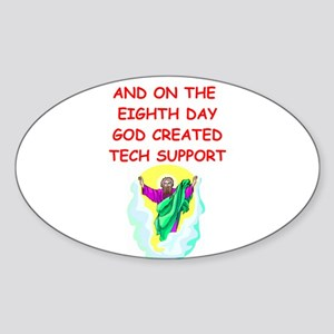 TECHSUPPORT Sticker (Oval)