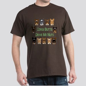 Both Corgi Butts Drive Me Nut Dark T-Shirt