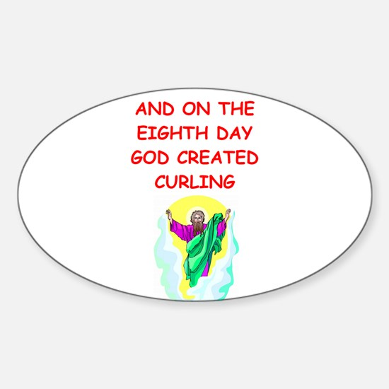 CURLING.png Sticker (Oval)