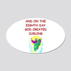 CURLING 20x12 Oval Wall Decal
