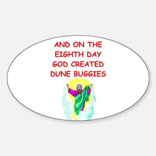 DUNEBUGGIES.png Sticker (Oval)