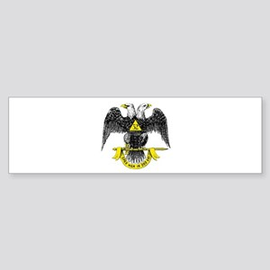 Freemasonry Scottish Rite Bumper Sticker