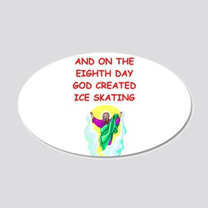 ICESKATING 20x12 Oval Wall Decal