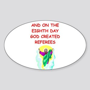 REFEREES Sticker (Oval)