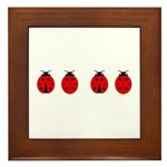 Ladybugs Framed Tile