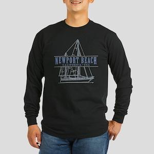Newport Beach Long Sleeve Dark T Shirt