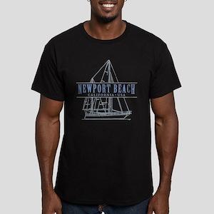 Newport Beach - Men's Fitted T-Shirt (dark)